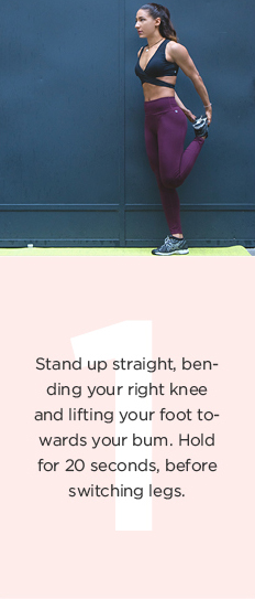 Running warm-up: bend your knees