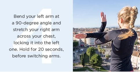 Running cooldown: stretch your arms
