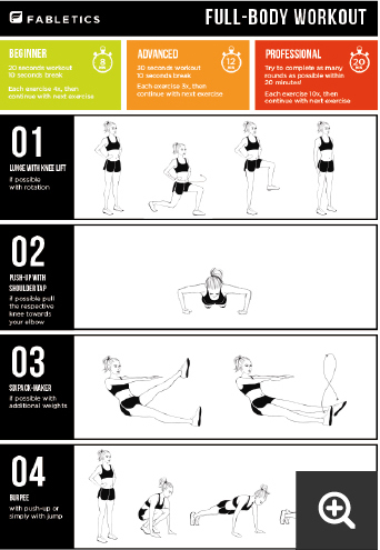 Full-body workout by Fabletics