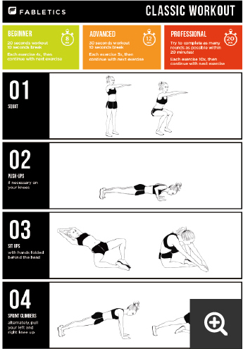 Classic workout by Fabletics