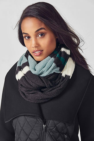 The Pearl Knit Infinity Scarf