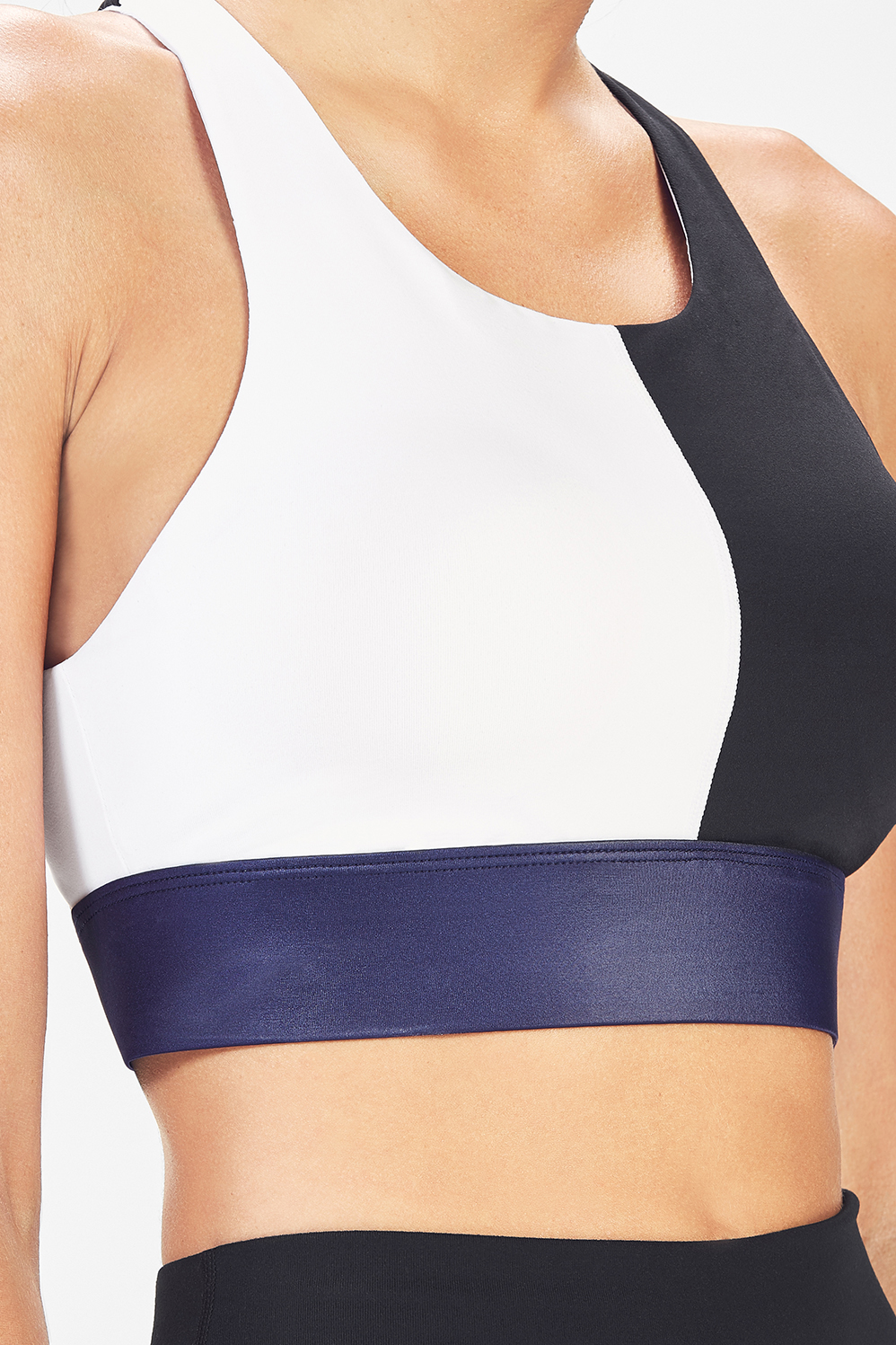 8a890c4a7f Ella High Support Sports Bra II - White Black Navy