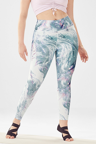 High-Waisted Printed PowerHold 7/8