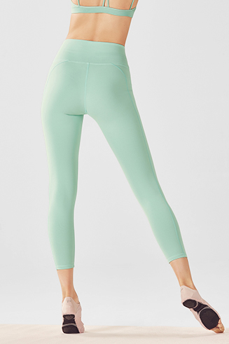 High-Waisted Solid PowerHold Capri