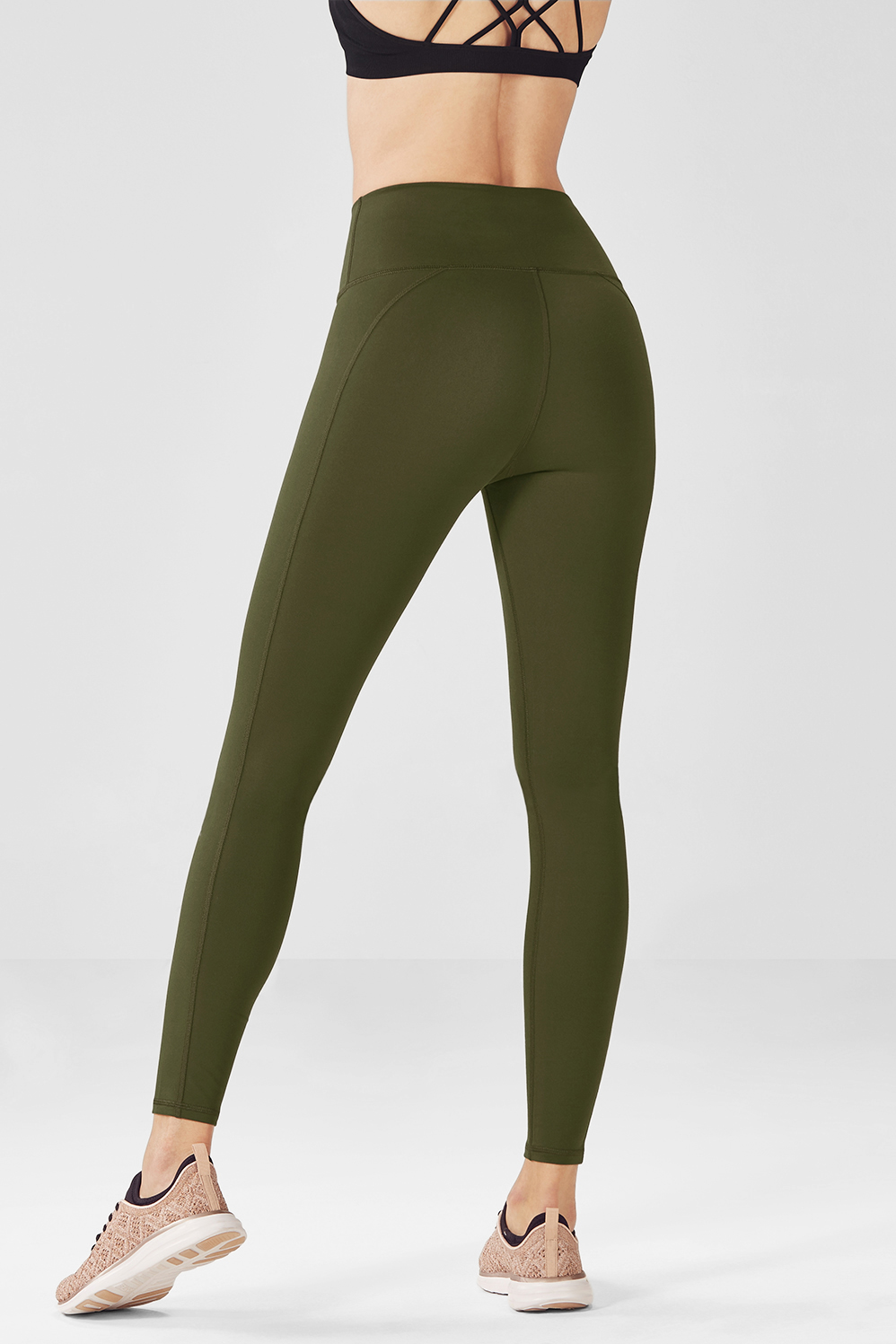 09b8789a5e673 High-Waisted Solid PowerHold® 7/8 - Dark Olive