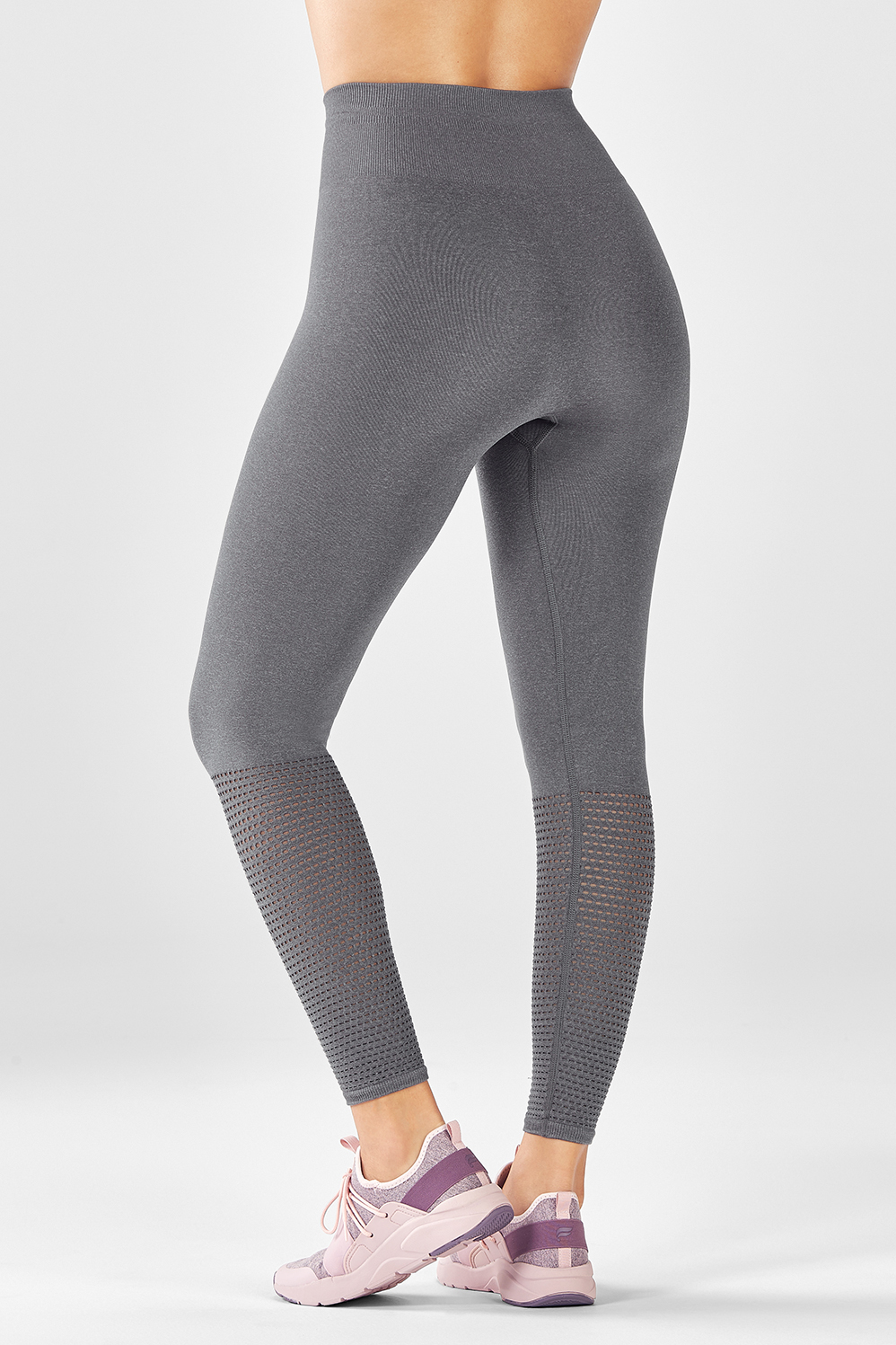 272fd54ab4194 Seamless High-Waisted Mesh 7/8 - Grey Heather
