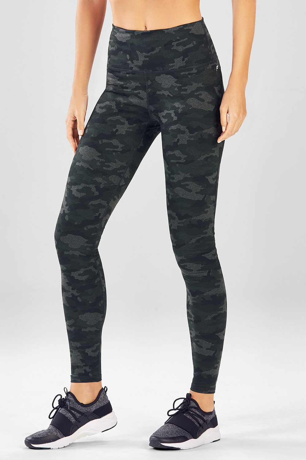 0b76ee8c1531b High-Waisted Printed PowerHold® Leggings - Charcoal Camo