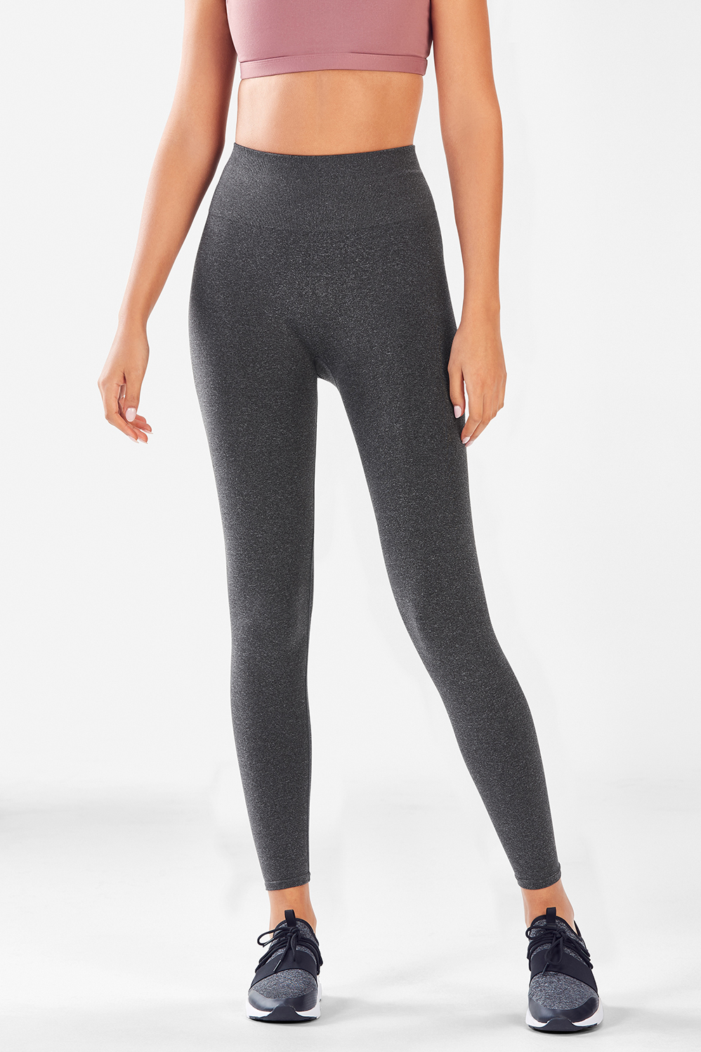 9f36099a8e6a28 Seamless High-Waisted Solid Legging - Charcoal Heather