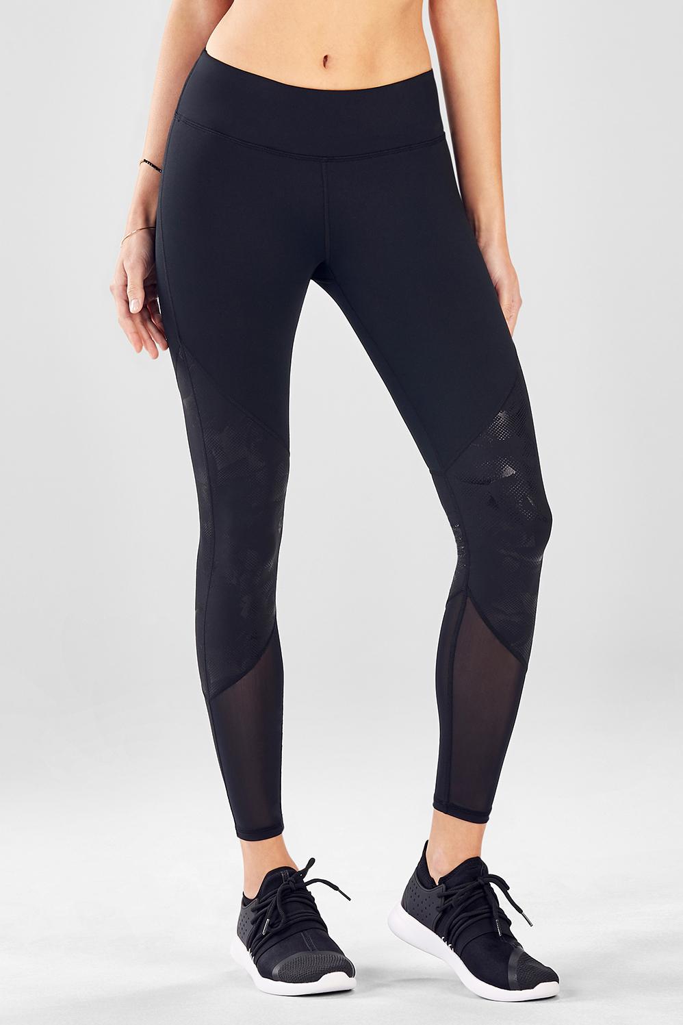 1aed3f8e59c28f Salar Mesh PowerHold® Legging - Black/Rosetta
