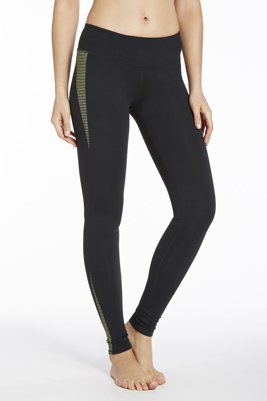 0df48cad5d0 Salar Printed PowerHold® Legging - black neon sport stripe