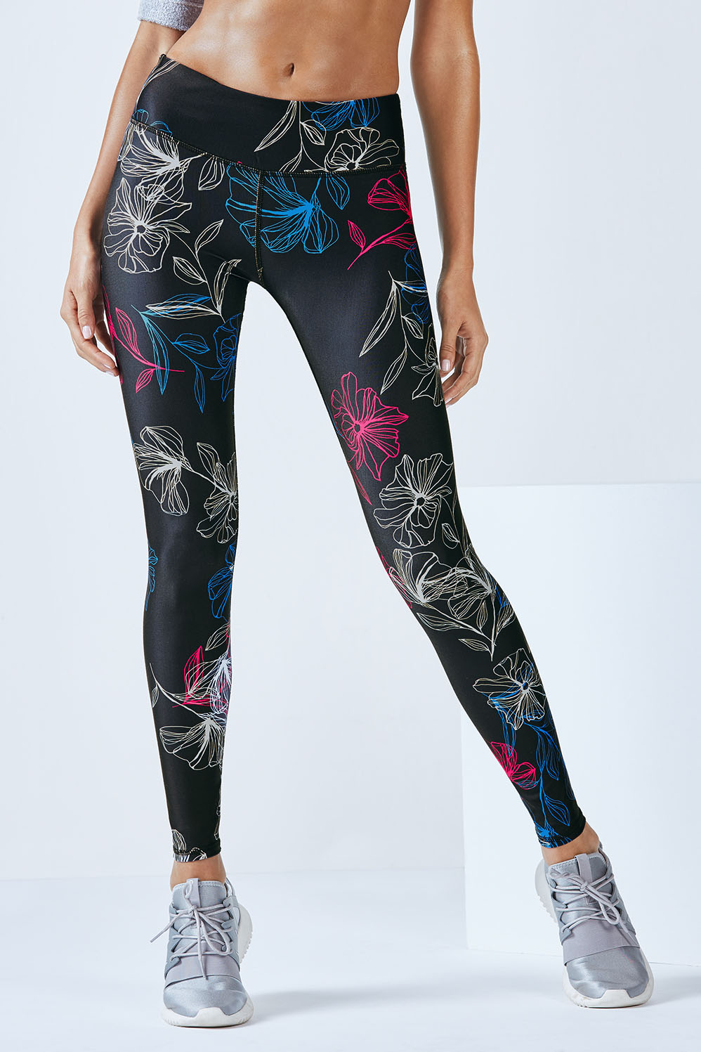 0dbd2f3bf36 Salar Printed PowerHold® Legging - blueprint floral print