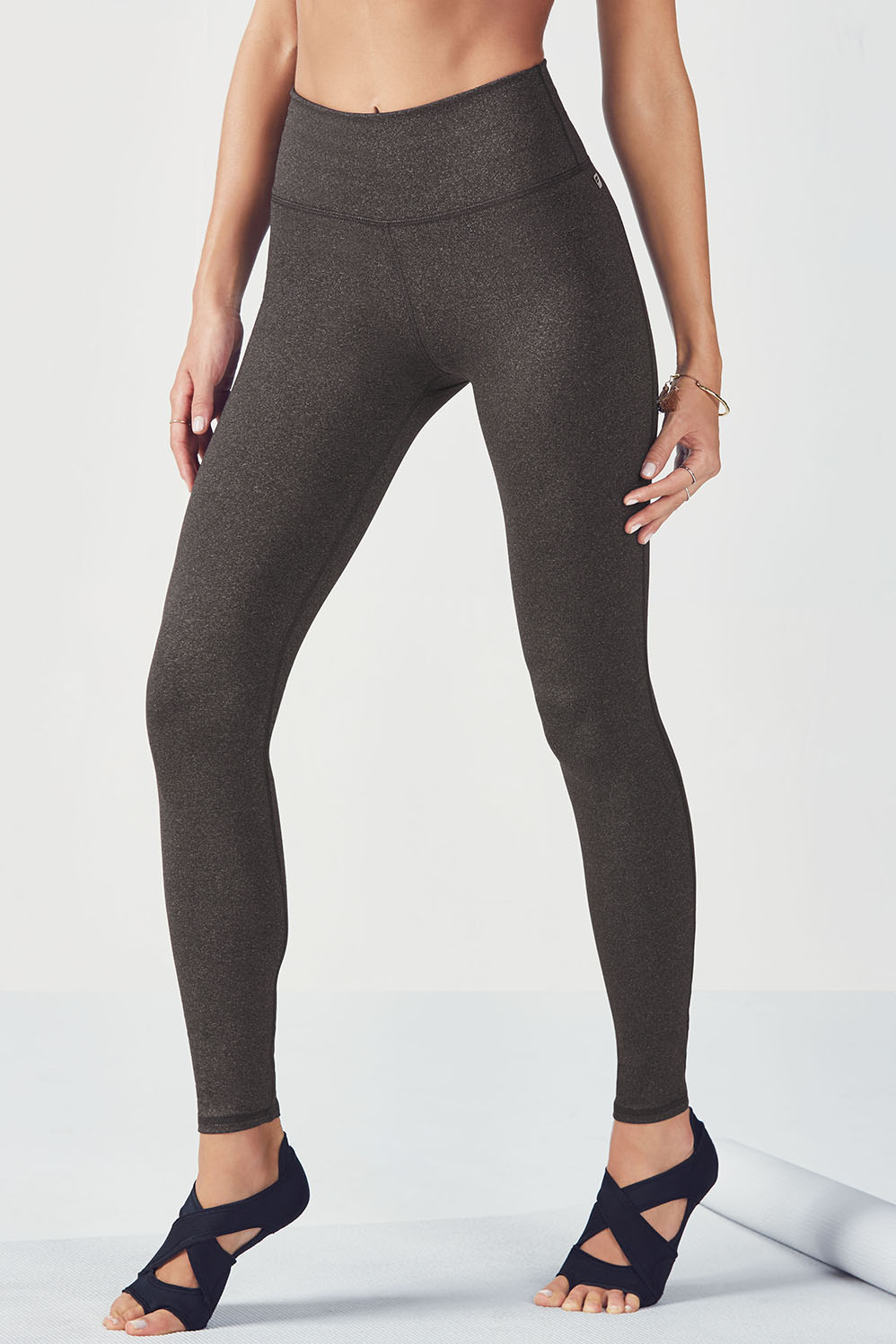 legging taille haute lisette en charoal heather v tements de sport fabletics. Black Bedroom Furniture Sets. Home Design Ideas