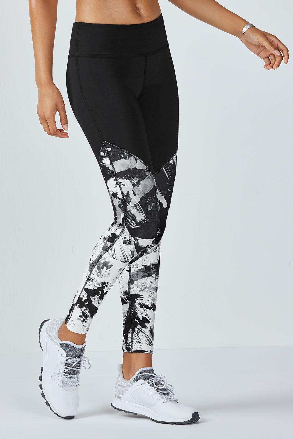 9bf1d1a148d10d Salar Statement PowerHold® Legging - Black/Black Fresco Print/White Fresco  Print