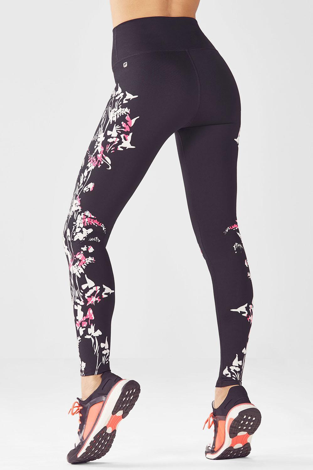 2f19b99768 High-Waisted Printed PowerHold® Leggings - Pop Coral Pretty Punk