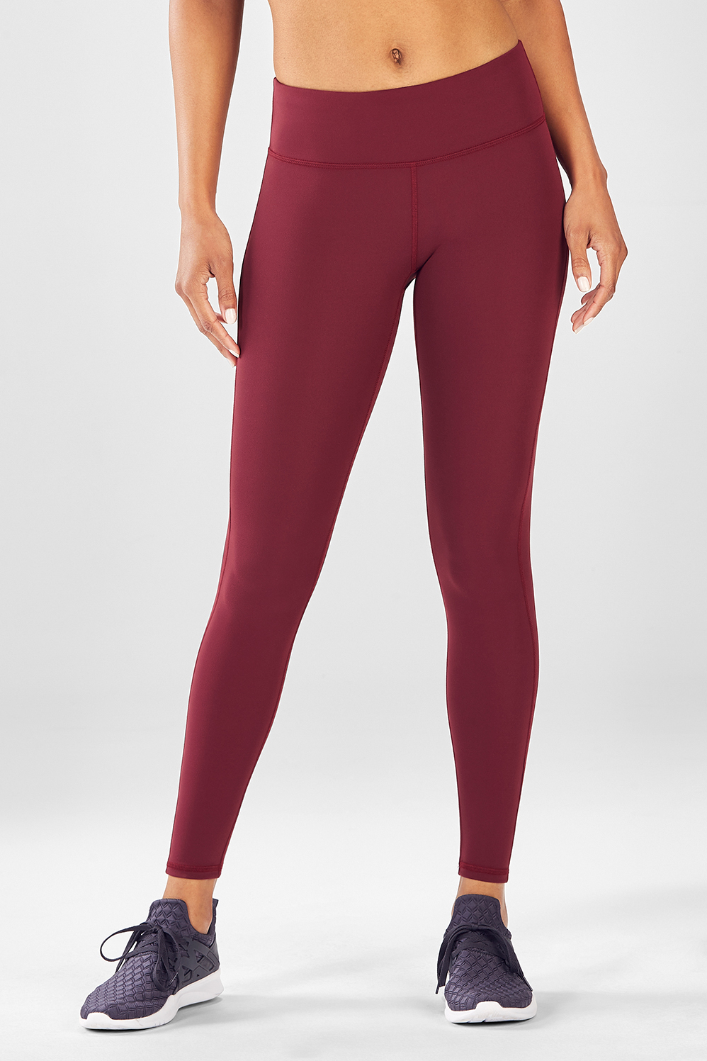 49d4f4ed7d5957 Salar Solid PureLuxe Leggings - Black Cherry