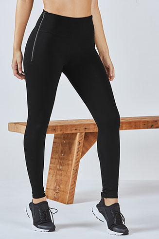 High-Waisted Zipper Legging