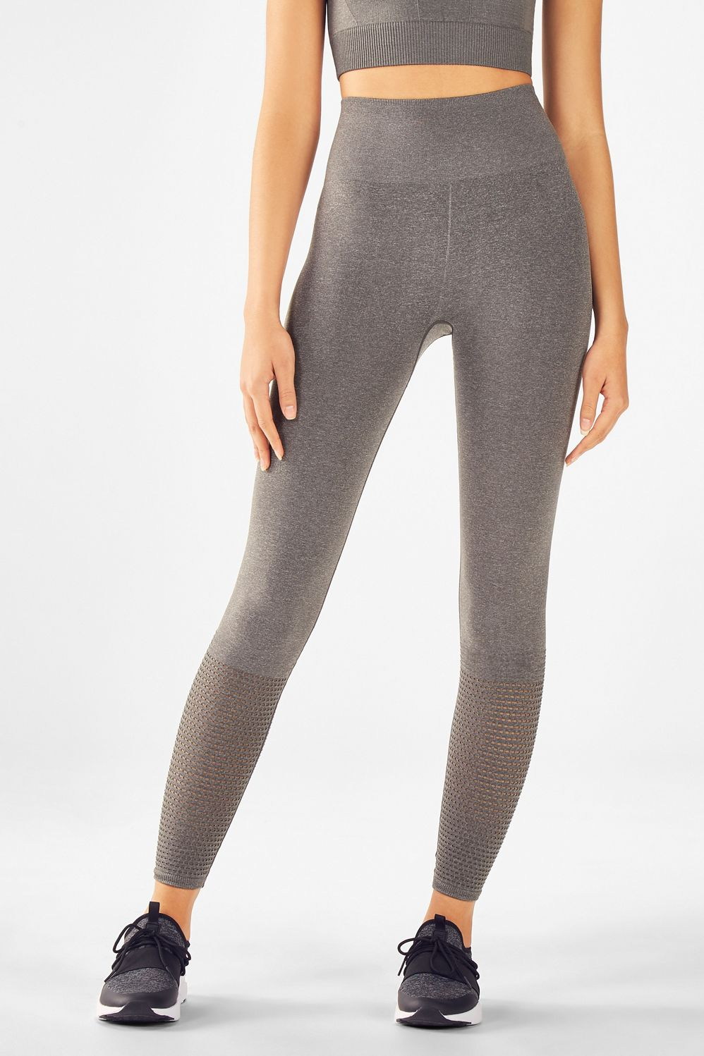 legging taille haute musetta en gris chin v tements de On 998 haute compression