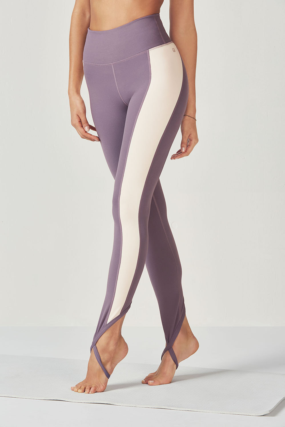649587df34bbc Chara High Waist Stirrup Legging - Dove/Ivory