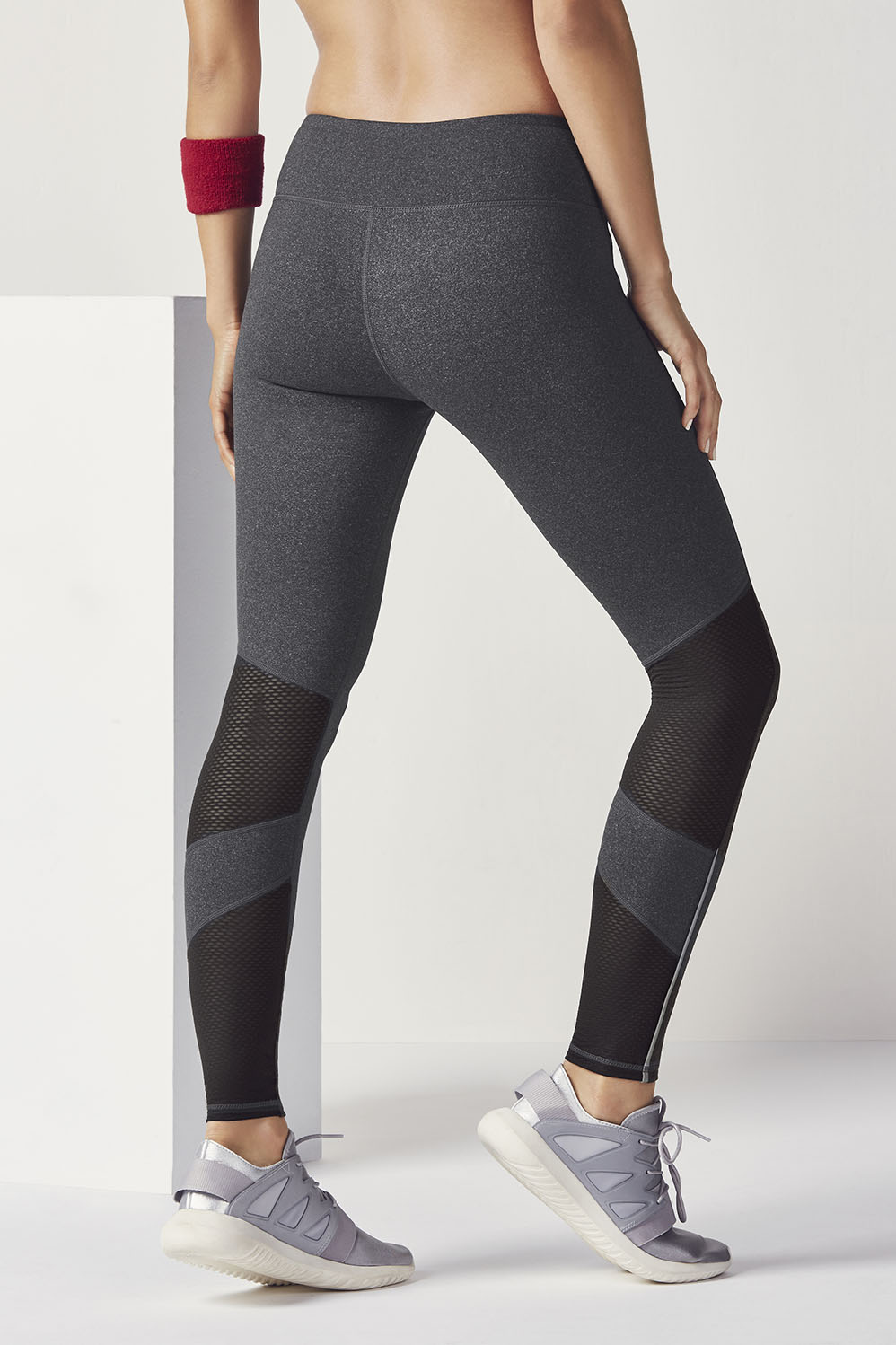 c3dfe8576a8362 Salar Mesh PowerHold® Leggings - Charcoal Heather/Black