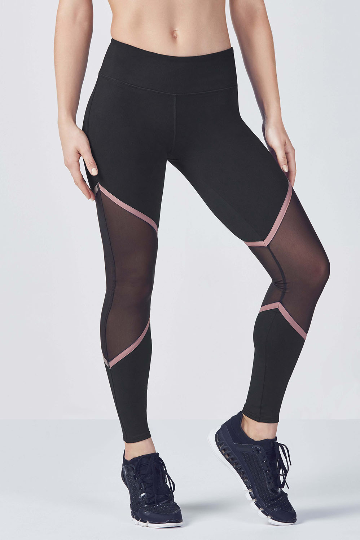 6301829d9e9e9d Salar Mesh PowerHold® Legging - Black/Rose Gold