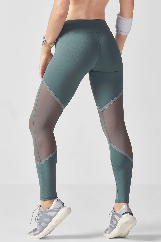 80784ab4142ee6 Salar Mesh PowerHold® Leggings - Marsh/Silver