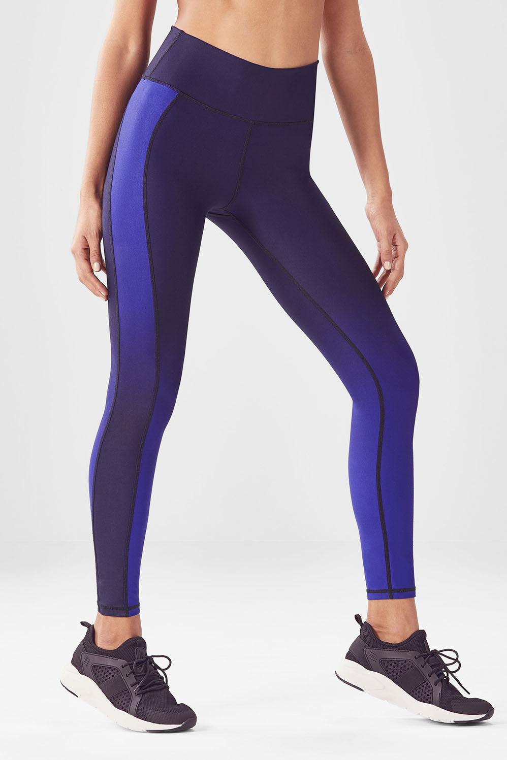 427c635aef High-Waisted Statement PowerHold® Leggings - Black/Raven Ombre