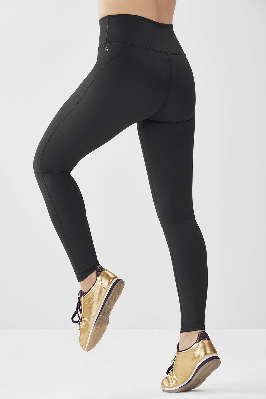 High waisted statement powerhold legging en noir for 998 haute compression