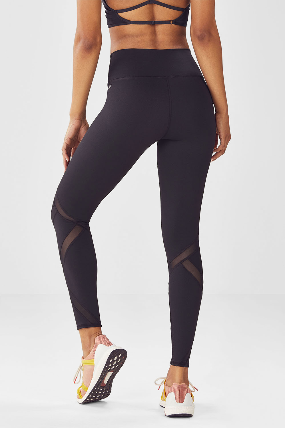 high waisted mesh powerhold legging en noir v tements de On 998 haute compression