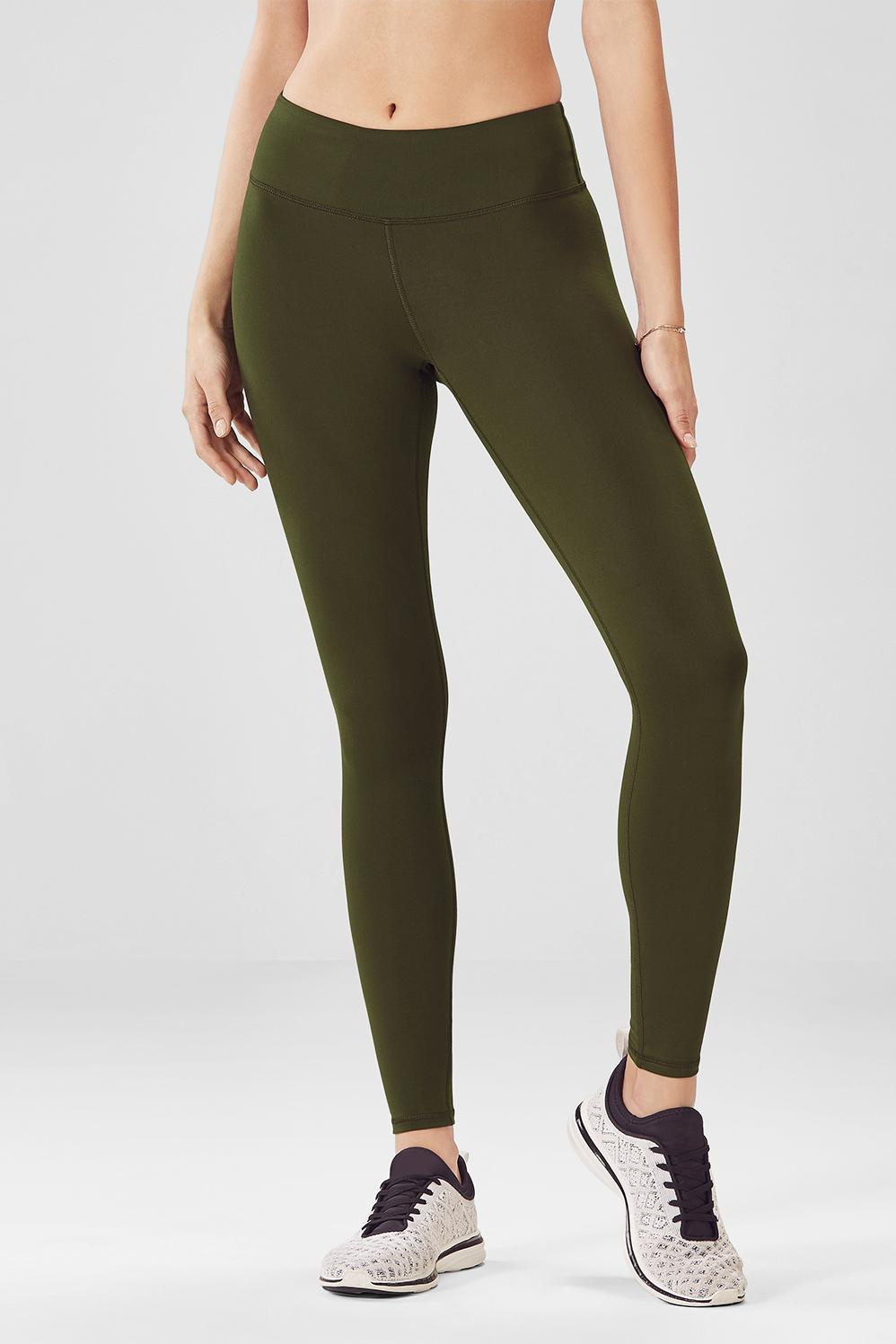 415e65da75d6b2 Salar Solid PowerHold® Leggings - Dark Olive