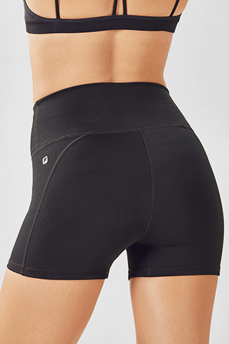High-Waisted Solid PowerHold Short