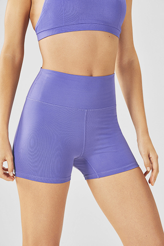 High-Waisted Solid PowerHold® Short